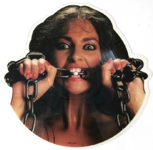 "Waysted ‎- Women In Chains (7"") (Shaped Picture Disc) (VG/NM)"